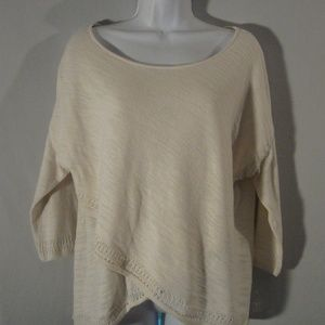 Anthropologie Moth Crochet Trim Sweater S